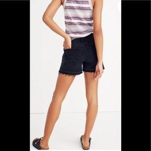 Madewell high-rise denim black shorts
